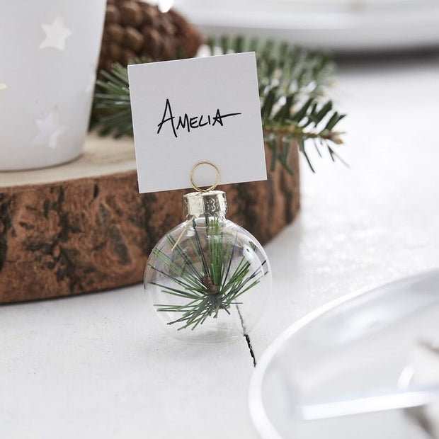 Rustic Foliage Christmas Place Card Holders