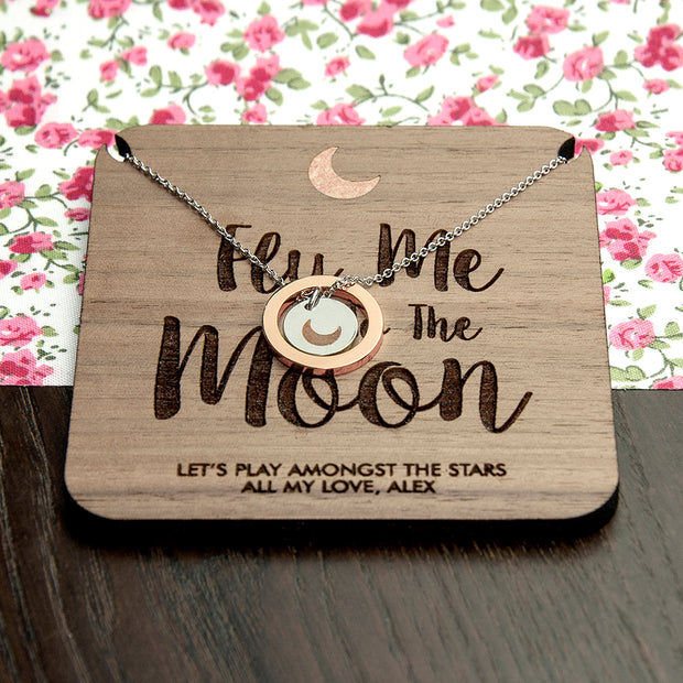 Personalised To The Moon Necklace & Keepsake