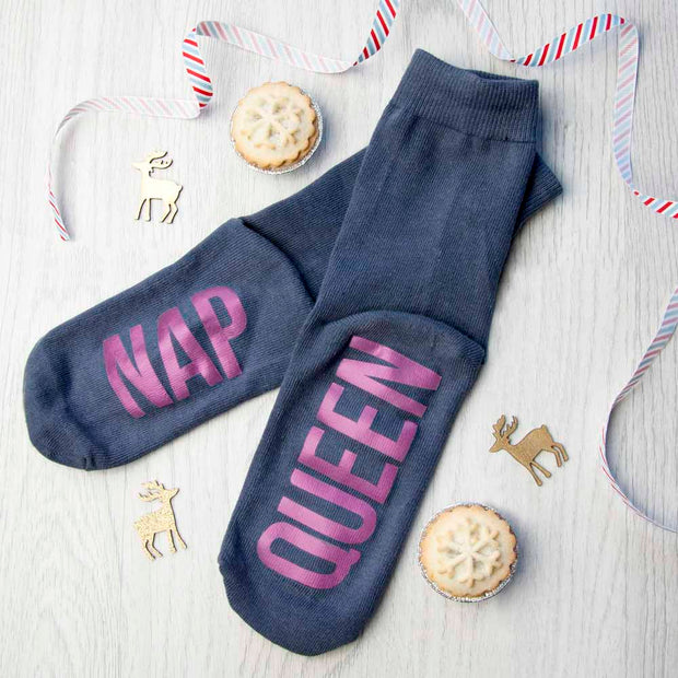 Personalised Charcoal & Hot Pink Socks