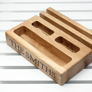 Personalised Solid Oak Multi Tablet and Phone Holder