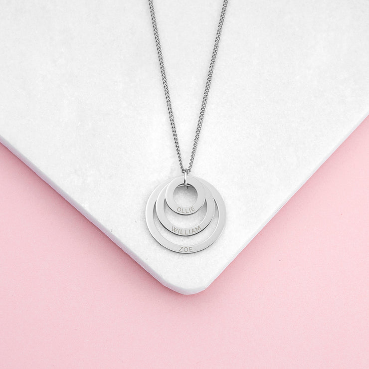 Personalised Circles of Love Necklace