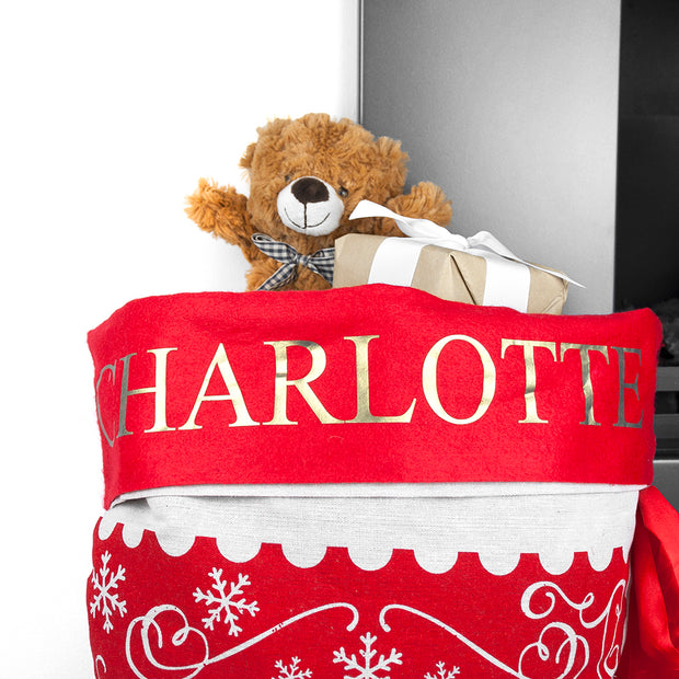 Traditional Personalised Christmas Santa Sack