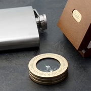 Personalised Brass Compass in Gift Box
