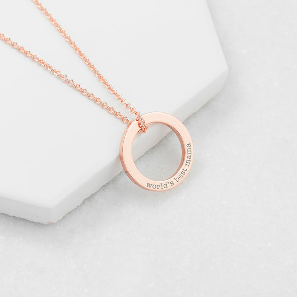 Personalised Rose Gold Ring Necklace