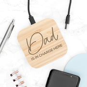 Personalised In Charge Bamboo Wireless Charger