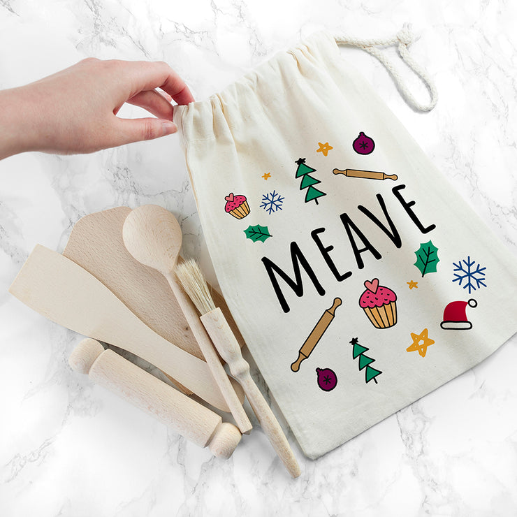 Personalised Childrens Festive Baking Set
