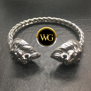Judah Lion Squared - Men's Stainless Steel (Adjustable - One Size Fits All)