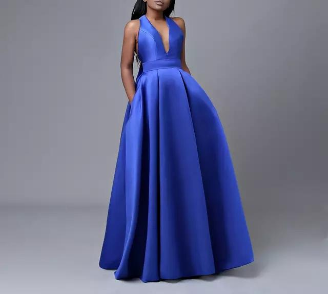 Royal Blue African Evening Gowns