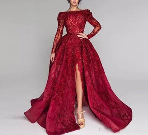 Wine Red Formal Dress