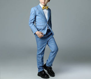 Boys Plaid Wedding Suits