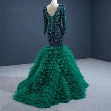 Load image into Gallery viewer, Green Mermaid Cocktai Dress