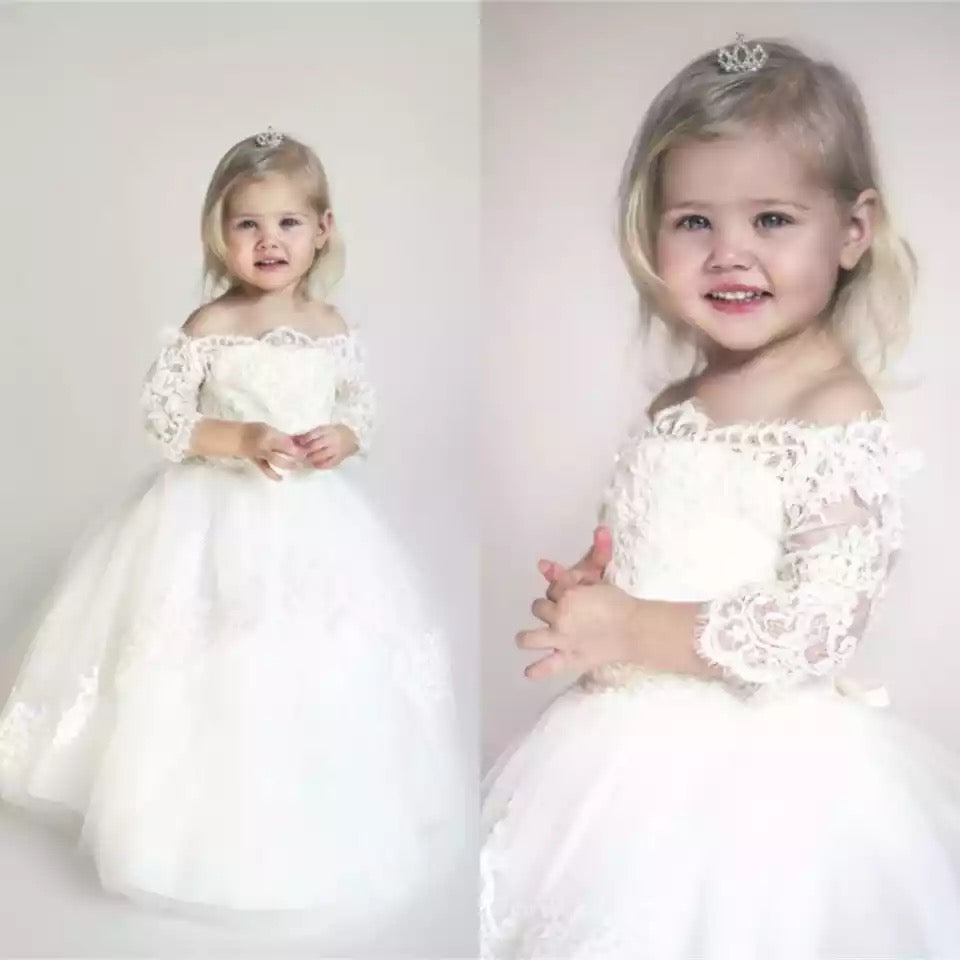 Off The Shoulder Christening Dress