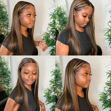 Load image into Gallery viewer, Straight 180% Density  Honey Blonde Lace Front Wigs For Black Women