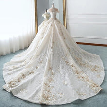 Load image into Gallery viewer, Empire Embroidery Puffy Bridal Gowns