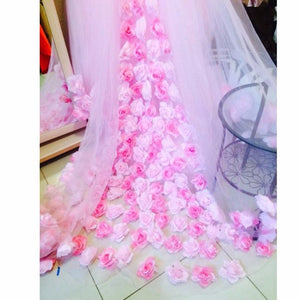 Pink  Pricess Puffy Ball Gowns