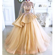 Load image into Gallery viewer, Dubai Arabic Gold Quinceanera Dress