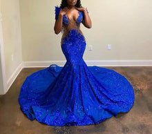 Load image into Gallery viewer, African See Through Prom Dress