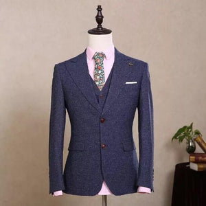 Real Image Formal Men Suits Coat+Pants+ Tie