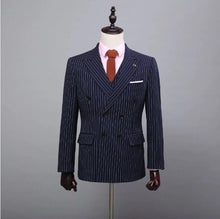 Load image into Gallery viewer, Men Customized Wedding Suit Coat+Pants+Vest+Tie
