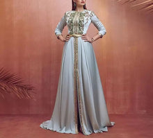 Charger l'image dans la galerie, Blue Moroccan Caftan Evening Dress