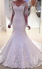Charger l'image dans la galerie, Luxury Long Sleeves Lace Bridal Gown