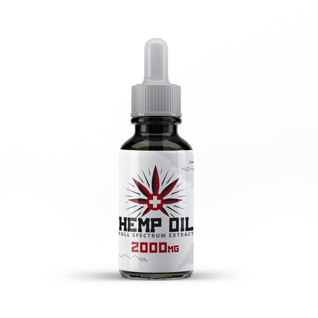 Hemp Lab 20% Hemp Oil Drops | 2000mg Full Spectrum Hemp Oil 10ml | Manufactured to the Highest GMP Standards (2000mg)