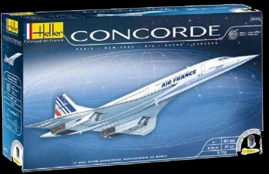 Heller Aircraft 1/72 Concorde Air France Commercial Airliner w/Paint & Glue Kit