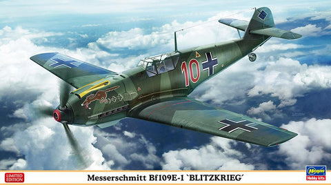 Hasegawa Aircraft 1/48 Messerschmitt Bf109E1 Blitzkrieg Fighter Ltd Edition Kit