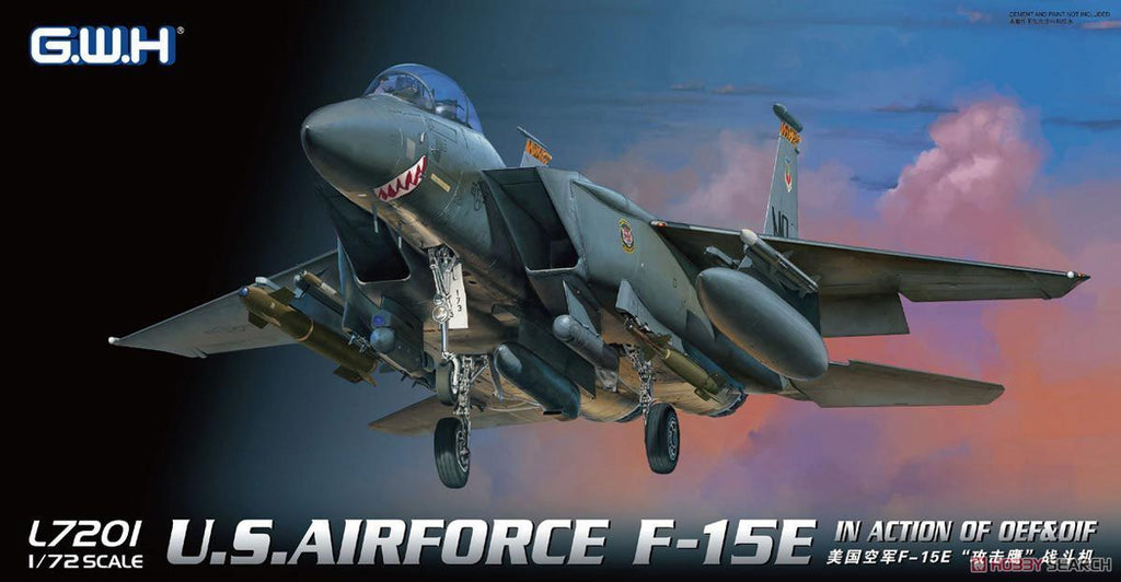 Lion Roar Aircraft 1/72 USAF F15E in Action OEF & OIF Fighter Kit