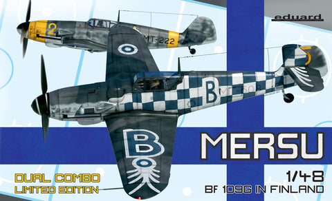 Eduard Aircraft 1/48 Bf109G Mersu in Finland Fighter Dual Combo Ltd. Edition Kit