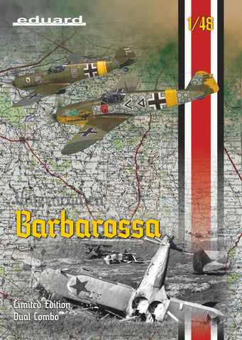 Eduard Aircraft 1/48 Bf109E4B/E7/F2 Barbarossa Aircraft Eastern Front Dual Combo Ltd Edition Kit