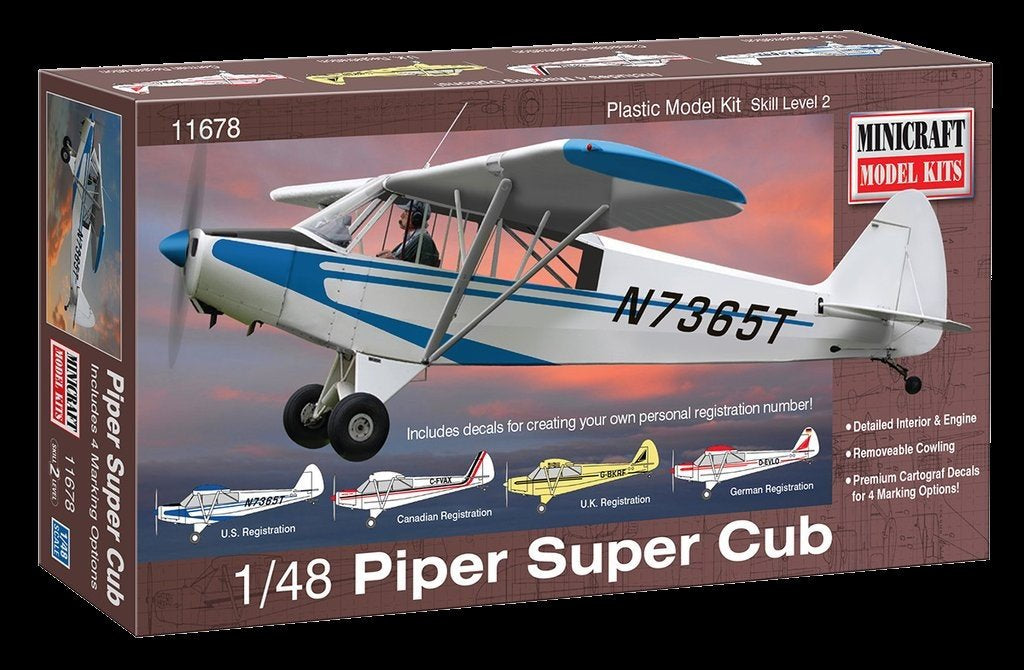Minicraft 1/48 Piper Super Cub Aircraft Kit
