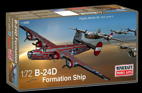 Minicraft 1/72 B24D 8th AF USAAF Formation Aircraft Kit