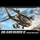 Academy Aircraft 1/72 AH64D Apache Block II early Version Helicopter Kit