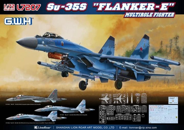 Lion Roar Aircraft 1/72 Su35S Flanker E Multi-Role Fighter Kit