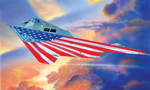 Italeri 1/72 F117A Nighthawk Stars & Stripes USAF Stealth Aircraft Kit