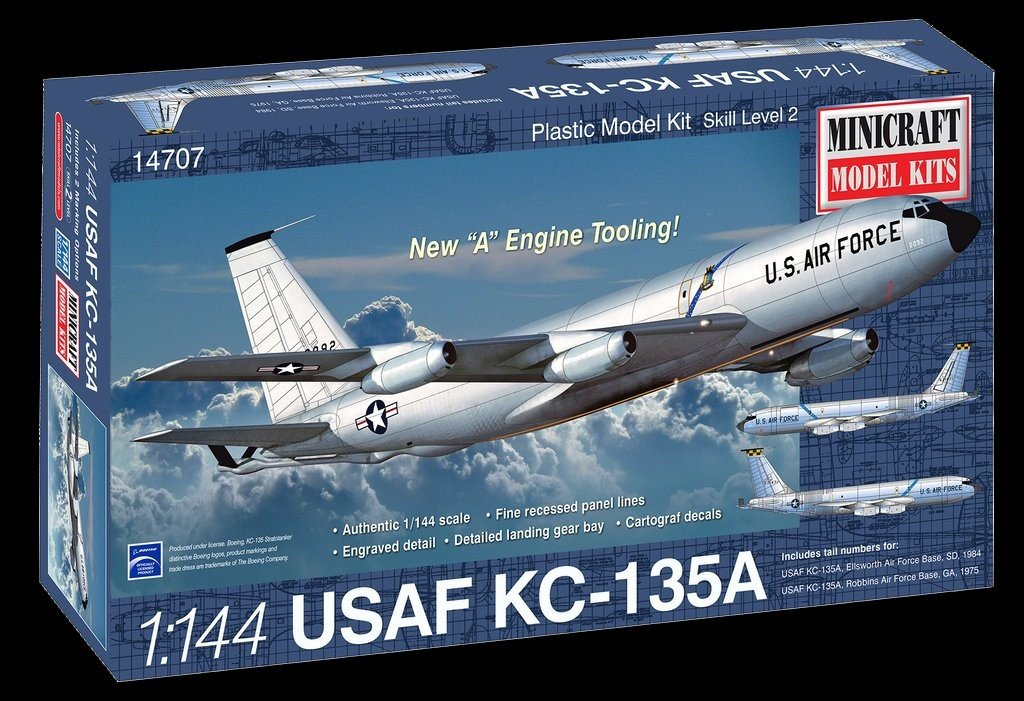 Minicraft 1/144 KC135A USAF Aircraft (New A Engine Tooling) Kit