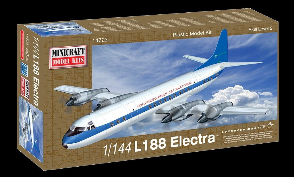 Minicraft 1/144 L188 Electra US Turbo-Prop Airliner Kit