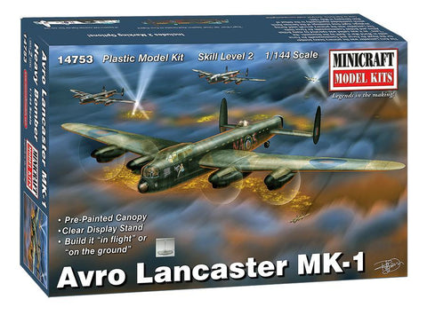 Minicraft Model Aircraft 1/144 Avro Lancaster Mk 1 RAF Aircraft Kit