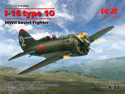 ICM Aircraft 1/32 WWII Soviet I16 Type 10 Fighter Kit