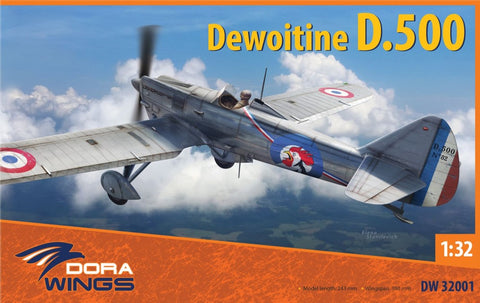 Dora Wings 1/32 Dewoitine D500 French Air Force Monoplane Fighter Kit