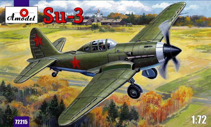A Model From Russia 1/72 Sukhoi Su3 Soviet Fighter Kit