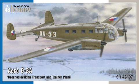 Special Hobby Aircraft 1/48 Aero C3A Czech Transport/Trainer Aircraft Kit