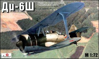 A Model From Russia 1/72 Di6 Russian BiPlane Kit
