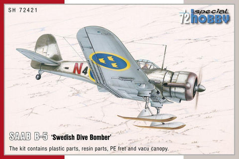 Special Hobby Aircraft 1/72 SAAB B5 Swedish Dive Bomber Kit