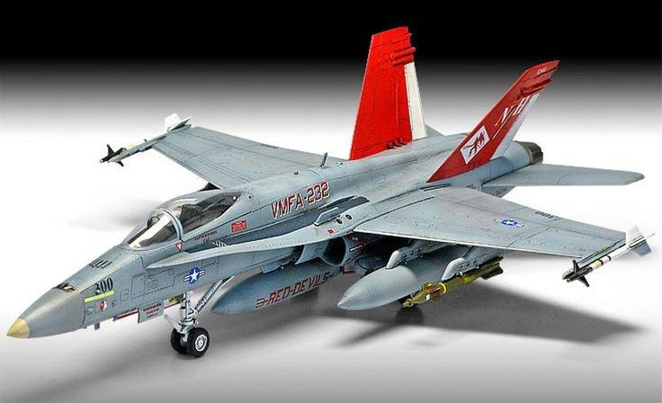 Academy Aircraft 1/72 F/A18A+ VMFA232 Red Devils USMC Fighter Ltd. Edition Kit