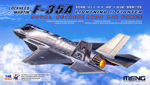 Meng 1/48 F35A Lightning II Royal Netherlands Air Force Fighter Kit