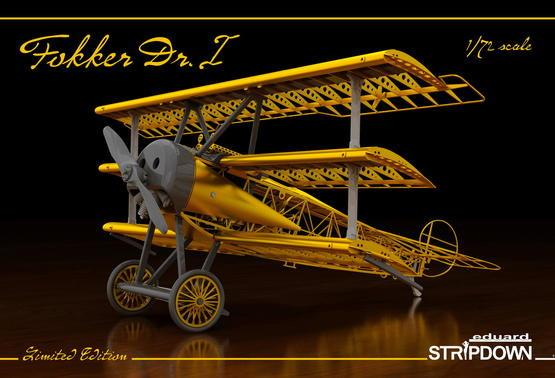 Eduard Aircraft 1/72 Fokker Dr I Stripdown TriPlane Ltd Edition Kit