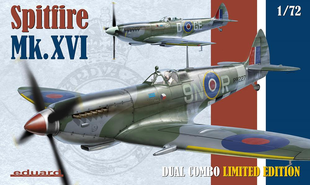 Eduard Aircraft 1/72 Spitfire Mk XVI Fighter Dual Combo Ltd. Edition Kit