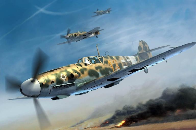 Trumpeter Aircraft 1/32 Messerschmitt Bf109G2/Trop German Fighter Kit